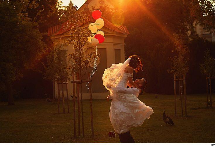 Yana & Daniel (Israel) destination wedding day photos captured in Prague featuring Prague Castle, Wallenstejn Gardens, Mala Strana & the Charles Bridge. Photos by American Photographer Kurt Vinion
