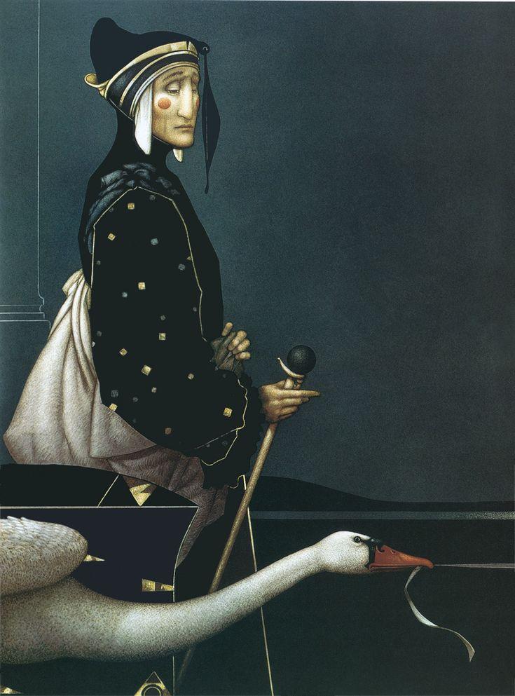 Dante by Michael Parkes