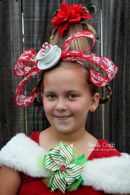 Cindy Lou Who Hairdo! Dress up like your favorite Who from How the Grinch Stole Christmas! Teacup headband and all!