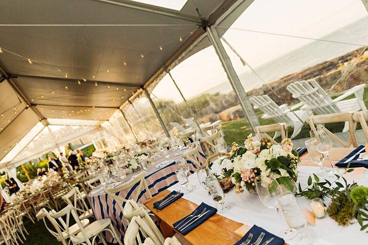 Cosatal wedding decor. Coastal Maine Wedding in Cape Neddick   Hailey & Joel   Maine Wedding Photographers