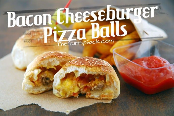 DIY Bacon Cheeseburger Pizza Balls - The Idea King