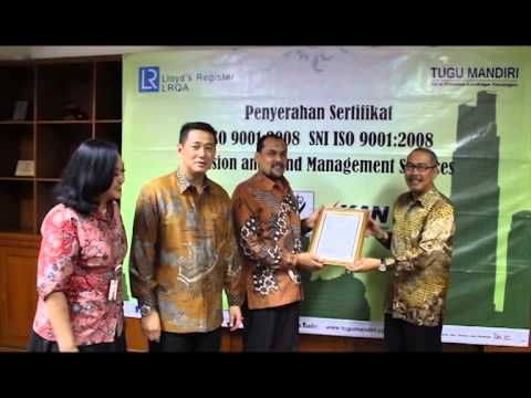Video Acara Penyerahan Sertifikat ISO 9001:2008 SNI ISO 9001:2008 Pension and Fund Management Services di Jakarta 15 Oktober 2014