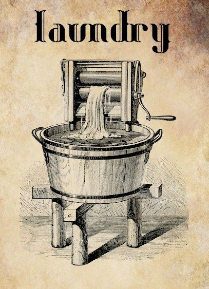 antique washing machine laundry clip art by VellasCollageSheets, $1.00