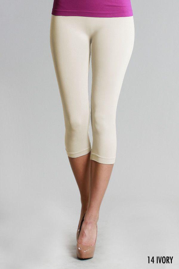 Nikibiki Seamless Capri Leggings - Ivory