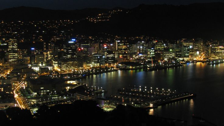 Take in the beautiful lights of the city at night  from the top of Mt Victoria.