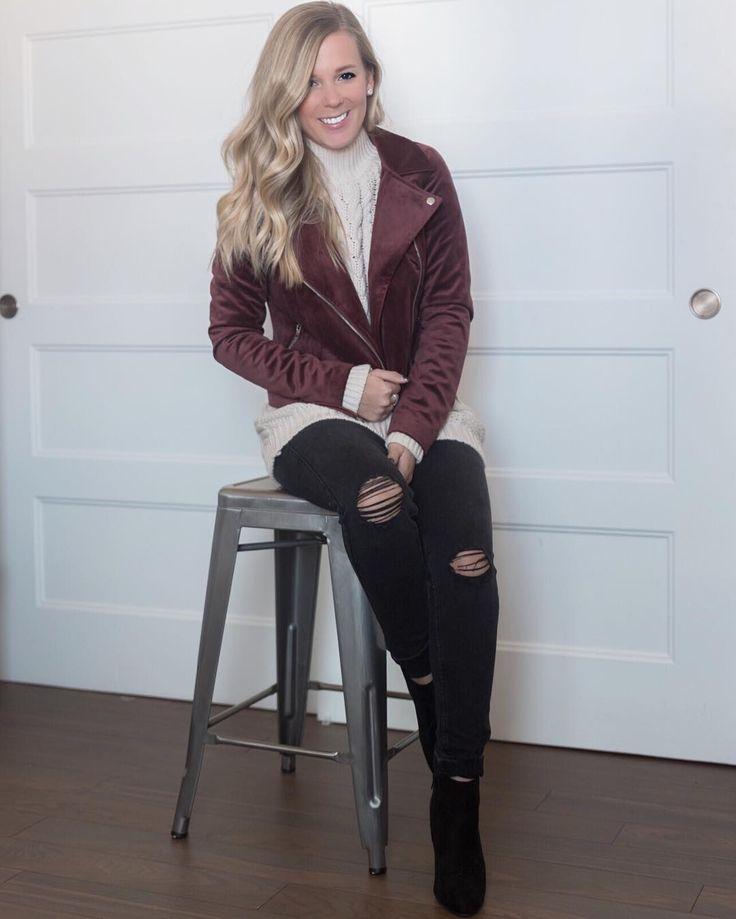 Sarah Couture sur Instagram: Des jeans pour un look des fêtes décontracté? c'est OUI!!Gros coup de coeur pour le tricot tressé @veromodacanada #veromodacanada #holidaylook #christimas #partner