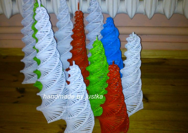 papierowa wiklina choinki tylko malowane