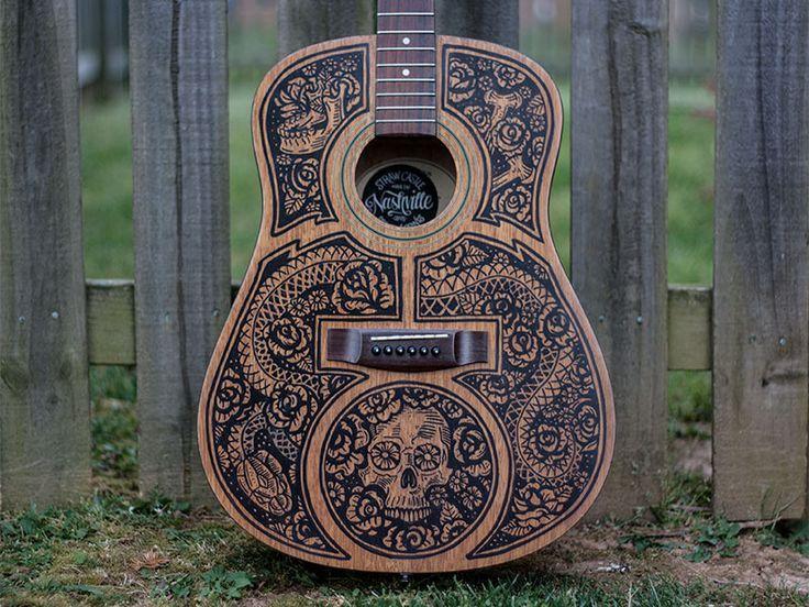 Acoustic Guitar - Sharpie Art by Derrick Castle