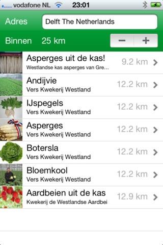 """Koop je graag """"Langs de Weg"""" producten bij boeren en kwekers? Dan kan deze app je helpen om waar dan ook snel te vinden wat beschikbaar is, waar je het kunt kopen en je kunt ook zien op de kaart waar dat is."""