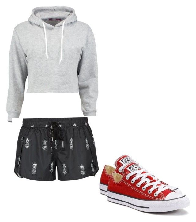 """""""Untitled #228"""" by austynh on Polyvore featuring Boohoo, The Upside and Converse"""