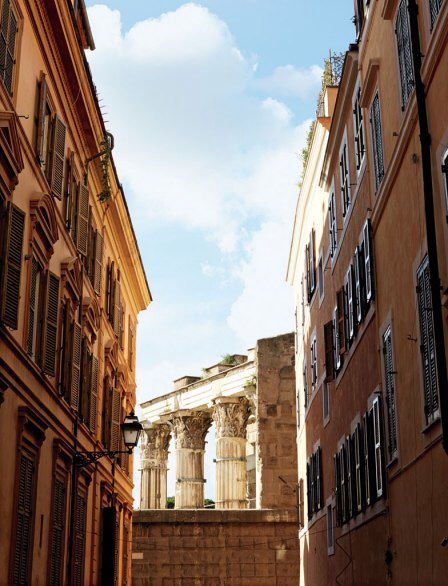 ROME The Forum of Augustus, as seen from the Via Baccina in Monti