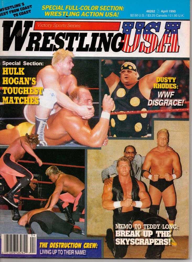 Wrestling USA Magazine April 1990 Hulk Hogan, Dusty Rhodes