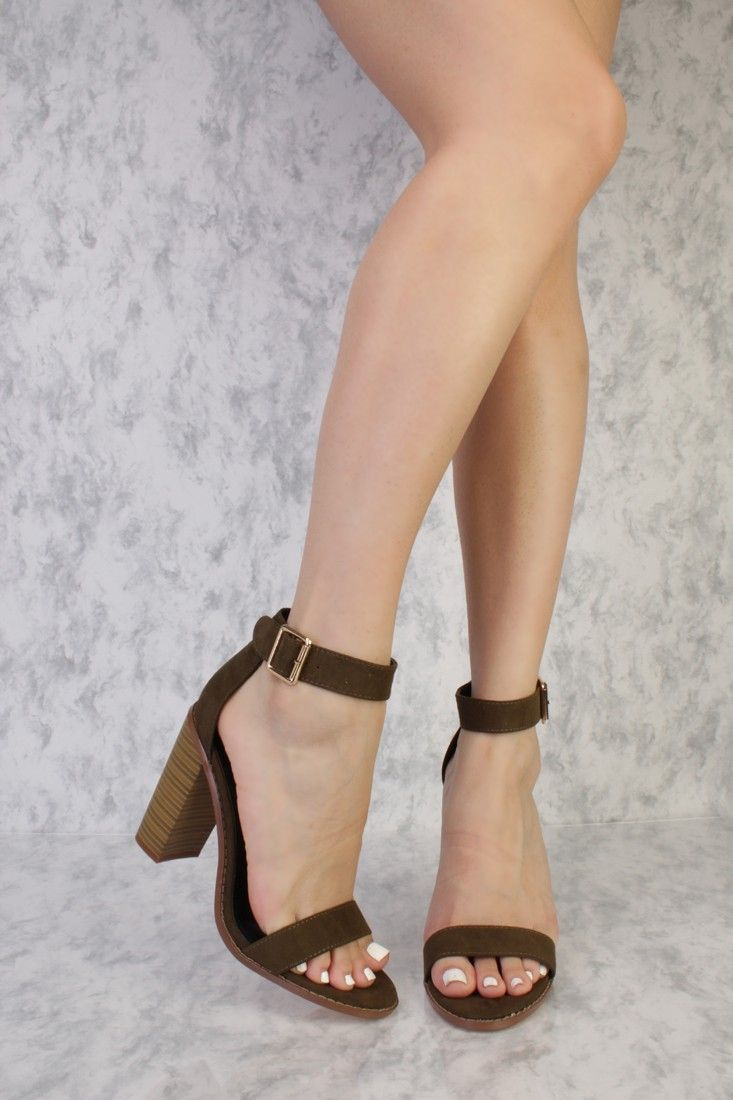 Blue Open Toe Platform Single Sole Chunky High Heels Velvet Suede d5MYDJSO