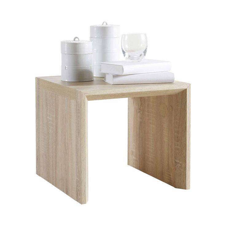 Table basse en bois imitation chêne brut L39.5cm AGUDO