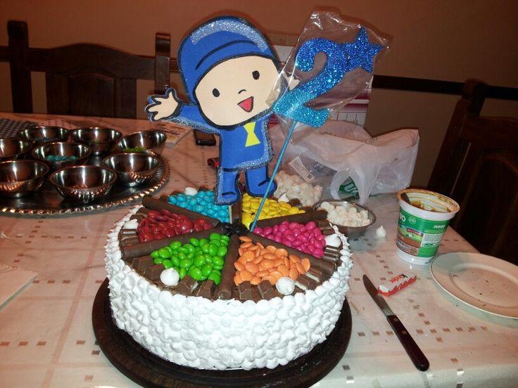 Torta confites de colores. Cumpleaños infantiles