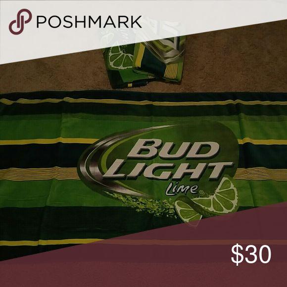 "Bud Light Lime 3 beach towels.. 55""x30""  like new Accessories"