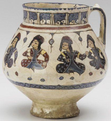 Seljuk Costume on Ceramics, 12th to 13th centuries