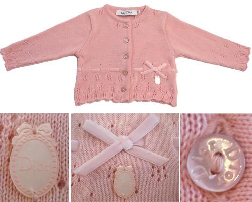 baby Dior 'Merveilleuse' Cardigan