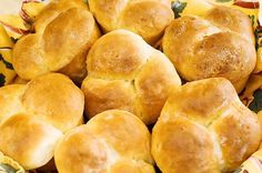 Possibly THE easiest & tastiest dinner rolls ever.  I make these quite often for my family & we love them.  They always get rave reviews when we have friends over for dinner.