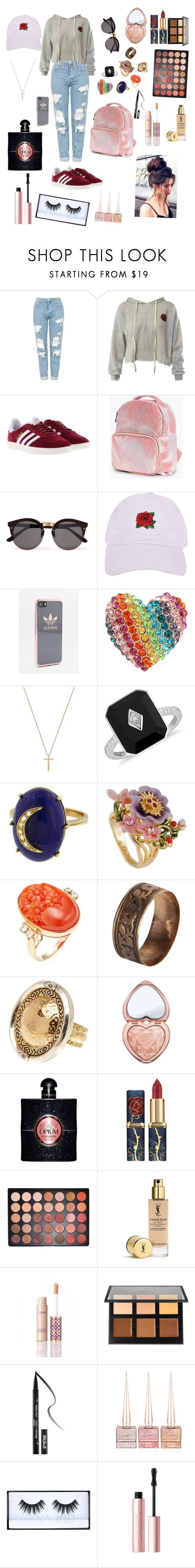Roses & Thorns by instaioistyle on Polyvore featuring Topshop, Sans Souci, adidas