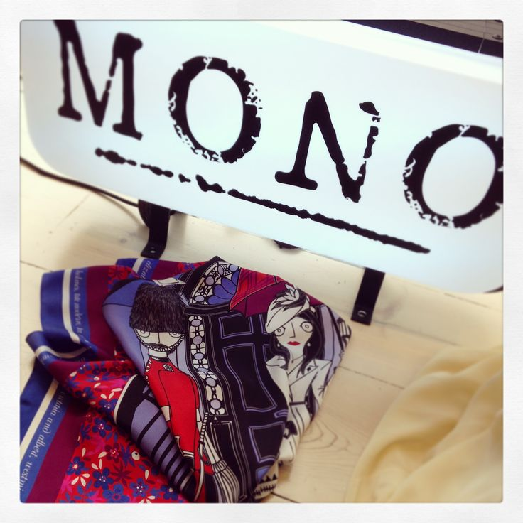 """Exclusive preview of the """"Grecian In London"""" silk scarf at MONO Pop Up Store! Have you seen it?!"""