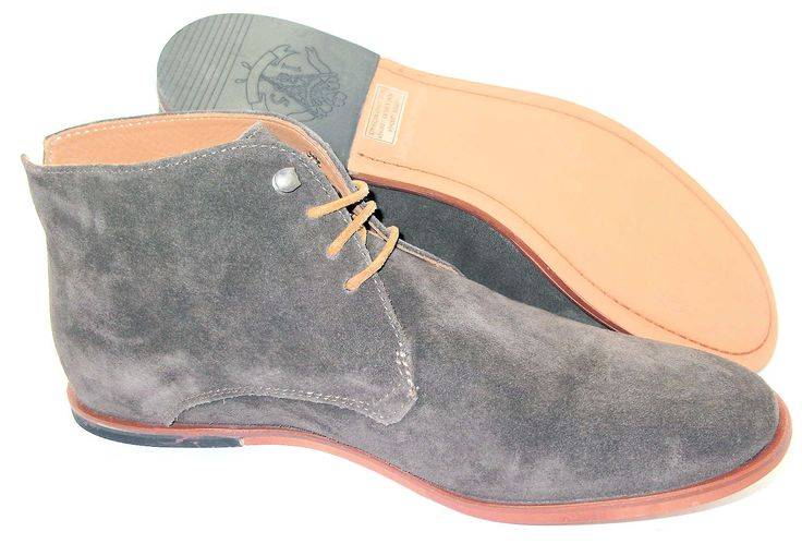 Frank Wright Grey Suede Desert Ankle Boots