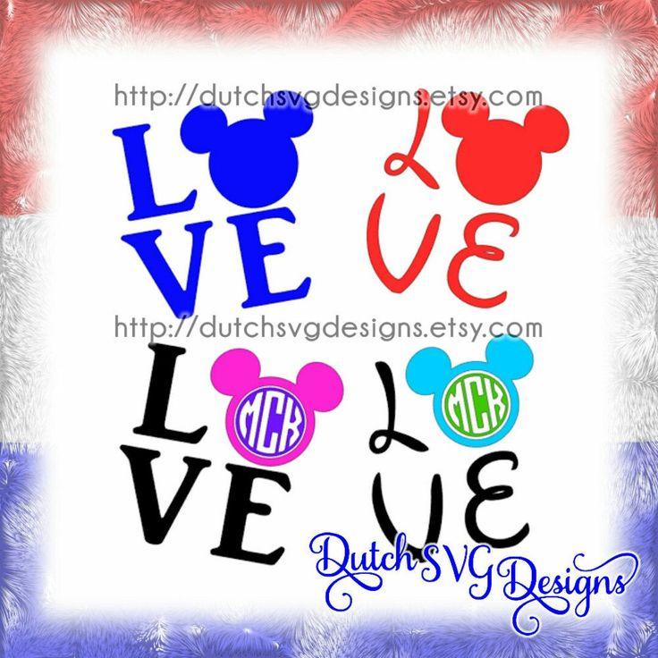 Download Tekst snijbestand Love met Mickey Mouse hoofd, in Jpg Png ...