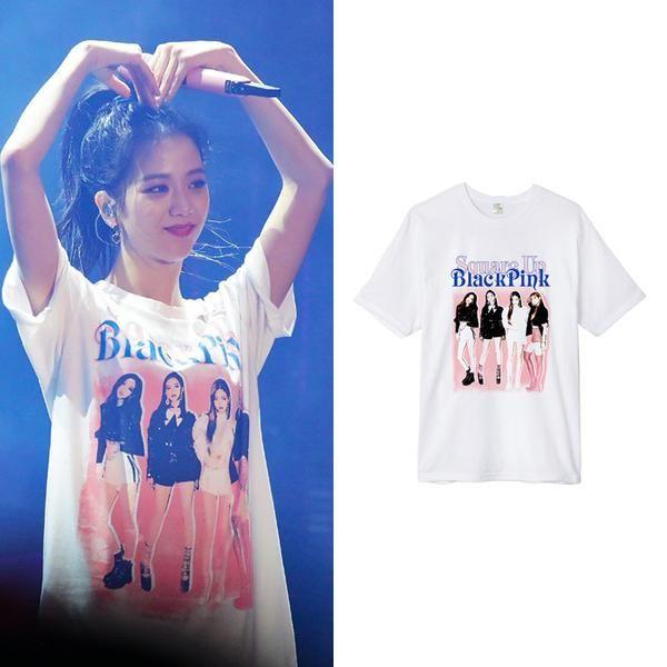 Blackpink Square Up Concert T Shirt Idols Fashion Square Blackpink Shirt Concert Merch Kpop Idols Ulzza Concert Tshirts Sleeves Women Blackpink Square Up