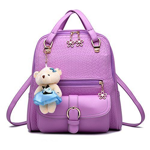 New Trending Backpacks: Hynbase Womens Fashion Cute PU Leather School Bag Backpack Shoulder Bag Purple. Hynbase Women's Fashion Cute PU Leather School Bag Backpack Shoulder Bag Purple   Special Offer: $24.80      277 Reviews Department:Womens/ladies Marterial: PU leather Description:This Designer wonderful bag feature size and durable design.The zip ensure the safety of the things in...