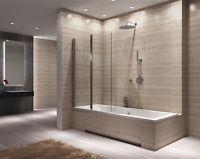 RA Nouvelle Pare-baignoire pivotant pour baignoire 80 // 100 // 120 CM AGAT -2