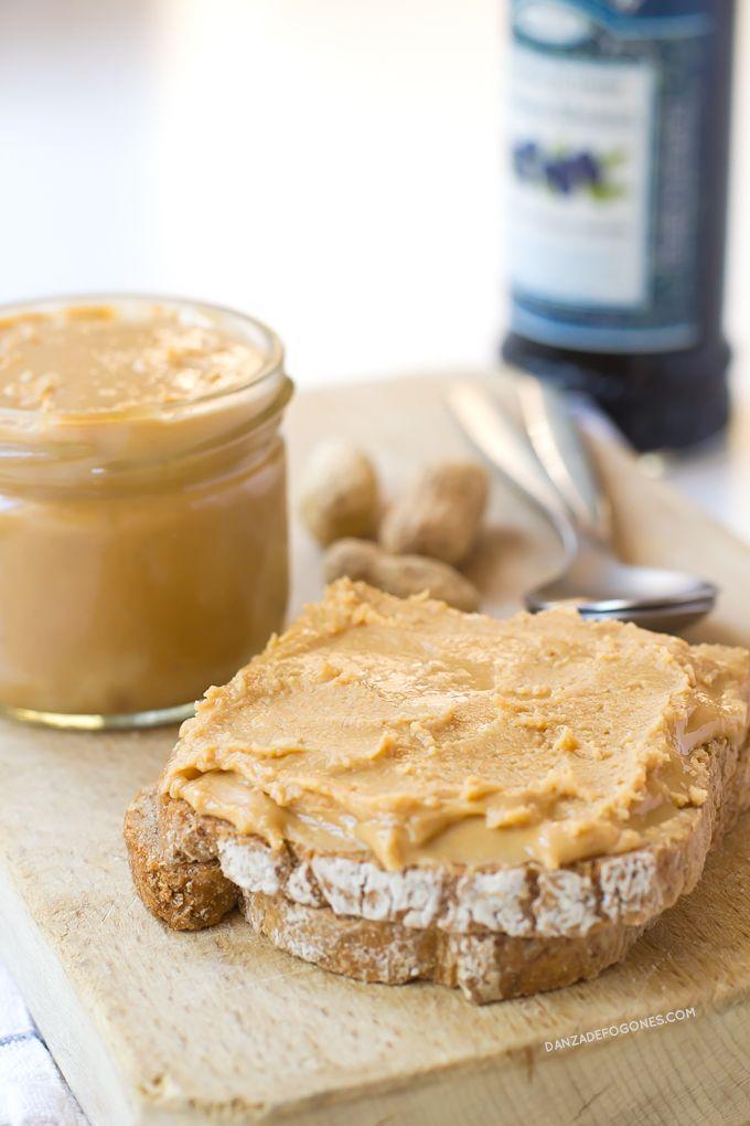 Mantequilla de Cacahuete o de Maní Casera | http://danzadefogones.com/mantequilla-de-cacahuete-o-de-mani-casera/
