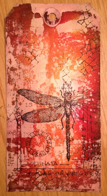 gesso resist using Tim Holtz, Ranger, Idea-ology, Sizzix and Stamper's Anonymous products; Apr 2015