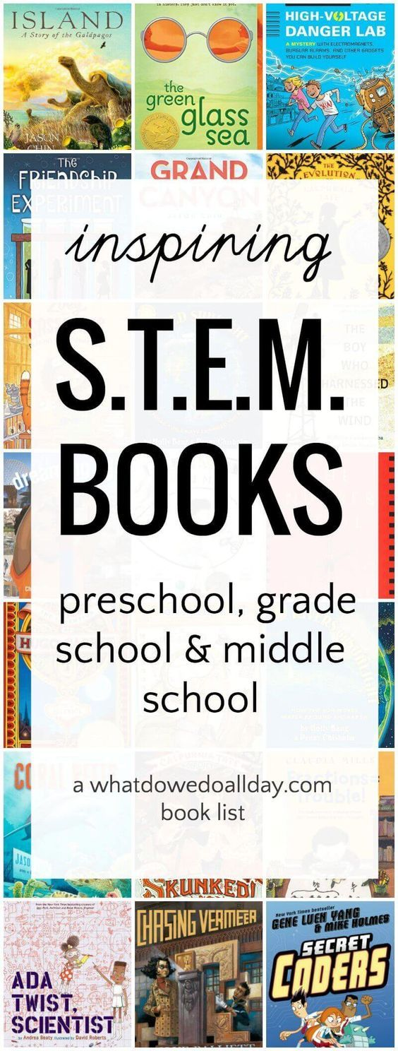 STEM books for kids for all ages. Great for a STEAM and STEM curriculum