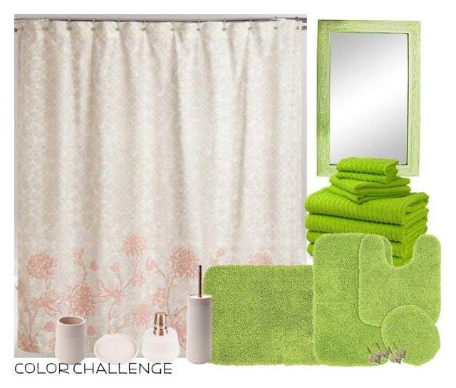 """blushandgreen"" by brooklynbeatz ❤ liked on Polyvore featuring interior, interiors, interior design, home, home decor, interior decorating, Cost Plus World Market, Garland Rug, Aquanova and Croscill"