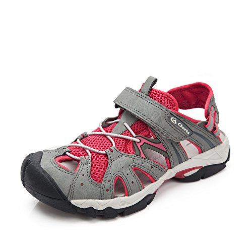 Clorts Womens Sport Sandals Red 80 PU 20 Mesh Athletic Sandals US9 ** You can find out more details at the link of the image.