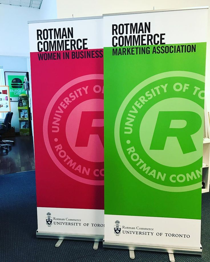 "50 mentions J'aime, 1 commentaires - Detonate Group Inc (@detonategroup) sur Instagram : ""Your go to print/design agency for anything print related! Check out these @rotmanschool roll up…"""