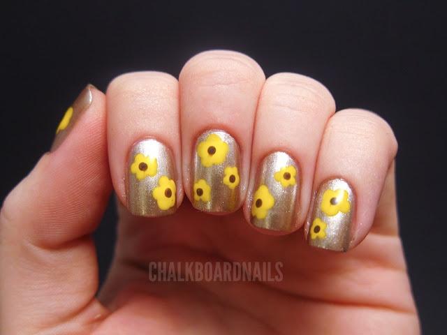 Yellow flowers: Art Blog, Chalkboards Nails, Nailart, Nails Design, Floral Nails Art, Naildesign, Flower Nails Art, Charity Ball, Yellow Flower