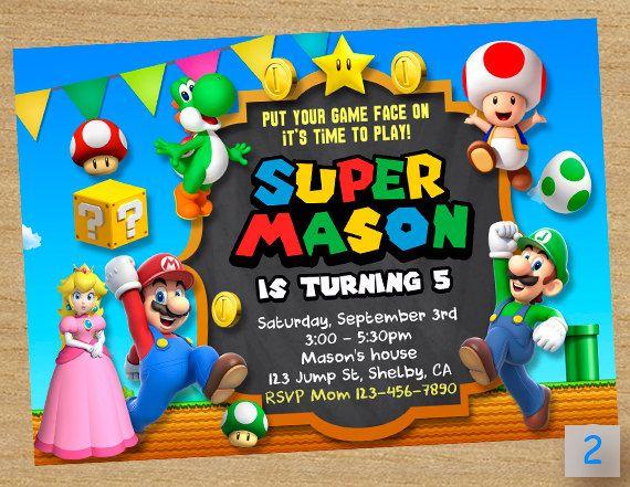 Super Mario Printable  Super Mario Party  Mario by DinoParty