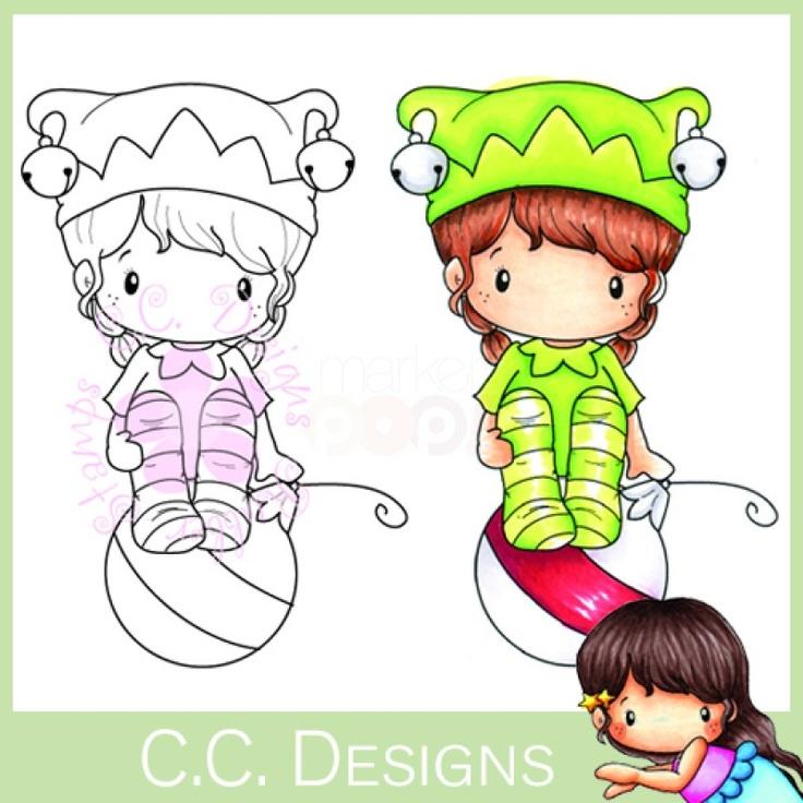 C.C. Designs Rubber Stamp - Swiss Pixies Elf Lucy
