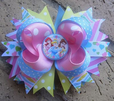 Disney Princess Custom Boutique Hair Bow for Disney World Vacation