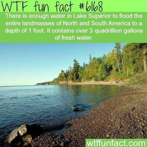 Lake Superior depth - WTF fun facts