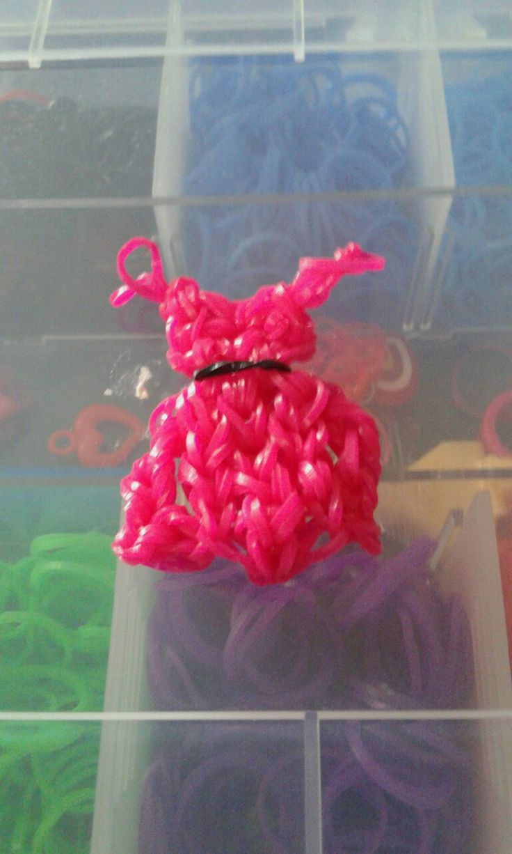 Rózsaszín szoknya-gumibol