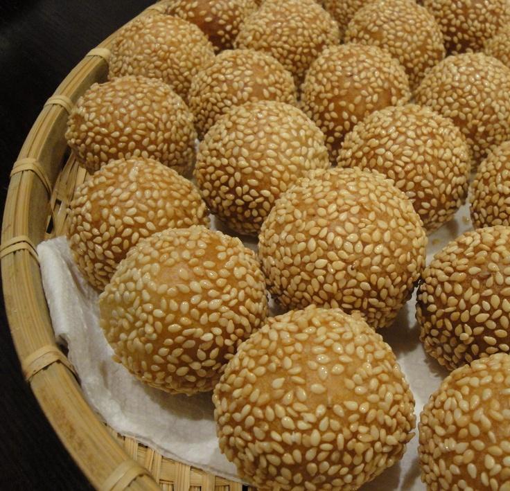 Deep fried Mochi Style Sesame Balls