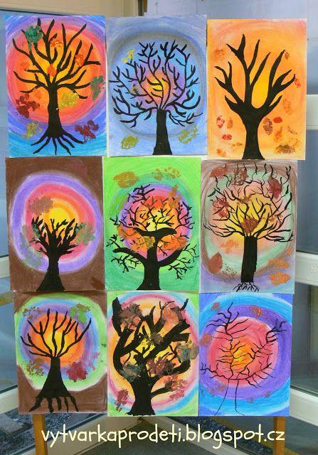 Tvoříme s dětmi ☺: Stromy-Věk: 7. třída Formát:A3- čtvrtka 220g/m2 podklad…