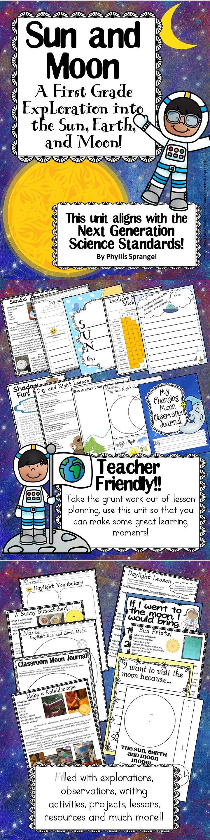 This unit is aligned with the Next Generation Science Standards! It contains, explorations, projects, writing pieces, worksheets, graphs, charts, observations, lesson plans, resources and printables!