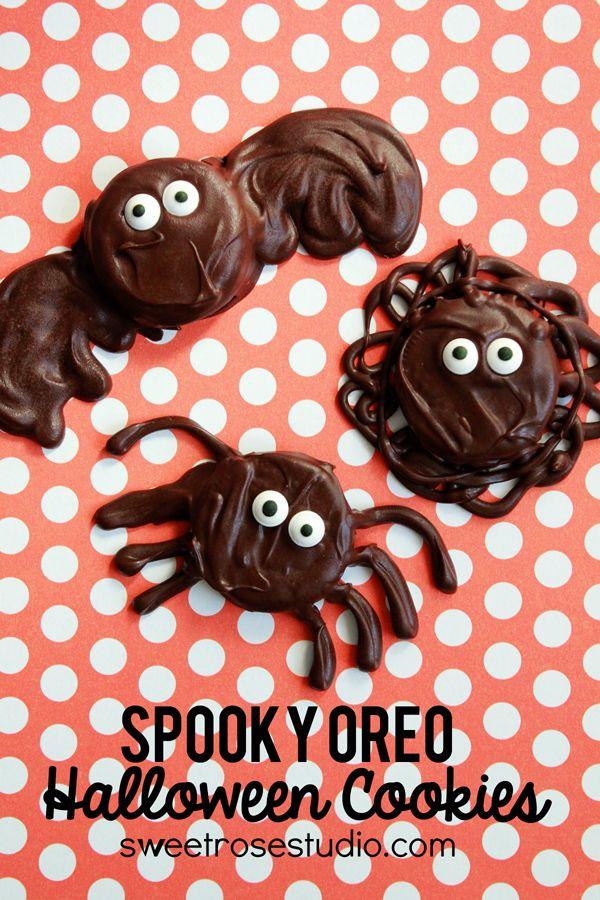 Spooky Oreo Halloween Cookies at Sweet Rose Studio #kids #Halloween