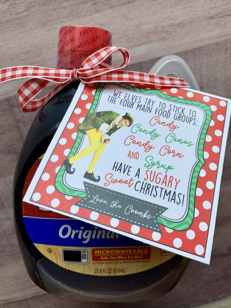 CUSTOM Christmas Neighbor Gifts Syrup TAGS Personalized