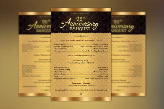 church anniversary one sheet program publisher template