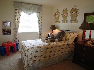 Design Dazzle: Sock Monkey Bedrooms