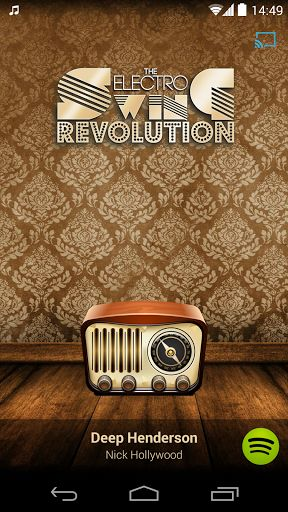 Electro Swing Revolution Radio is playing the finest Electro Swing music around the clock.Electro Swing Revolution is the No. 1 place for Electro Swing music, parties, DJs, artist booking & promotion - situated in Berlin, ready to get the world swinging.Listen to your favorite electro swing, swinghouse, nu jazz and swing hop artists like Parov Stelar, Caravan Palace, Movits, Bart & Baker, Swing Republic and many more!Also, this app was designed to be Google Cast™ Ready, so you can e...